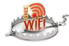 Falle mit freiem Wi-Fisymbol lizenzfreie abbildung