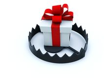 Falle mit Geschenk lizenzfreie abbildung