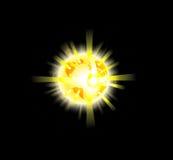 Fallecimiento de la explosión de la ilustración de la tierra del planeta ilustración del vector