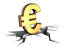 Falled euro Royalty Free Stock Images