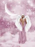 Fallen Angel. 3d render of fallen Angel Stock Photo