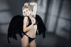 Fallen angel of nightmare Stock Photo
