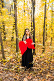Fallen angel with red wings. Halloween Stock Photography