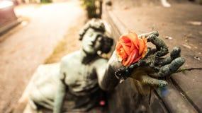 Fallen Angel Statue Stock Image