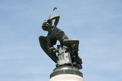 Fallen Angel Statue - Madrid - Spain royalty free stock photography