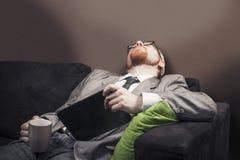 Fallen Asleep Stock Images