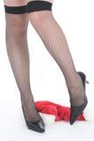 Fallen auf Weihnachten Stockfoto