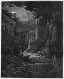 Fallen av Babylon royaltyfri illustrationer