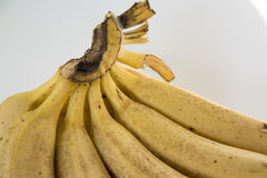 Fallen banana. Falling bananas are very creative material Royalty Free Stock Photography