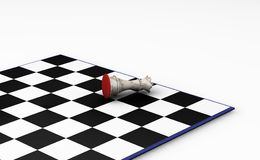 Fallen chess piece Stock Photography