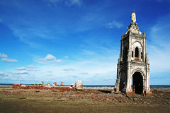 Fallen church on the beach Stock Image