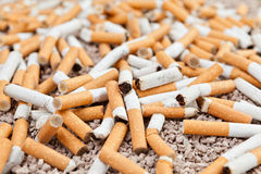 Fallen cigarettes chaos Royalty Free Stock Photos