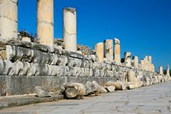 Fallen Columns Royalty Free Stock Photography