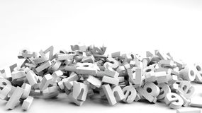 Fallen 3d letters Royalty Free Stock Image