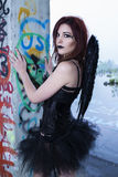 Fallen Dark Angel Stock Photos