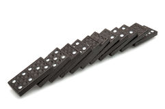 Fallen dominoes. Stock Photo