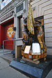 Fallen firefighters memorial in the front of New York City Fire Department Squad Company 1 in Brooklyn, Royalty Free Stock Photo