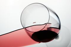 Fallen glass of wine Stock Photography