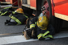 Firefighter Gear Royalty Free Stock Photography