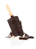 Fallen ice cream with chocolate on a stick Stock Image
