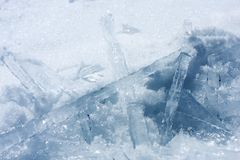 Fallen Icicles # 2 Stock Photo