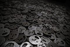 Fallen Leaves, Jewish Museum Berlin. Shalekhet - Fallen Leaves - Menashe Kadishman's Sculpture / Installation in the Memory Void, Liebskind's Jewish Museum in Royalty Free Stock Photography
