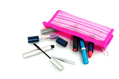 Fallen make-up case Royalty Free Stock Image