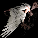 Fallen. A male angel in a pose stock illustration