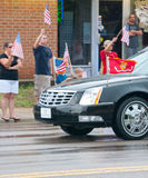 Fallen Marine Returns Home. PENSACOLA - AUGUST 24:  Patriot Guard Riders escort the fallen body of 19 year old US Marine Lance Cpl Travis Nelson as he is Stock Photos