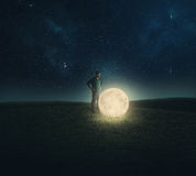 Fallen moon. Royalty Free Stock Images