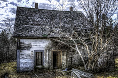 Fallen. An old abandoned house falling apart, urban exploration Royalty Free Stock Photos