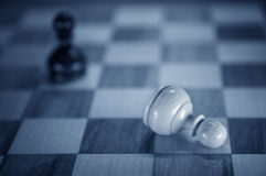 Fallen pawn Stock Photography