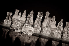 Fallen Pawns Stock Photos