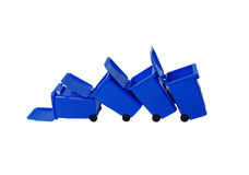 Fallen Recycling bins Royalty Free Stock Photo
