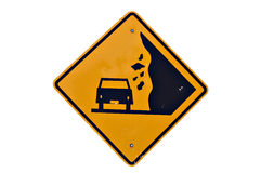 Fallen Rock Sign Royalty Free Stock Photography