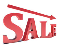 Fallen sale word Stock Image