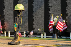 Fallen soldier tribute Royalty Free Stock Images