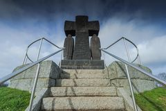 German Military Cemetery at La Cambe, Normandy, France. stock images