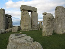 Fallen Stone at Stonehenge. One of the fallen stones at Stonehenge Royalty Free Stock Image