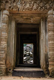 The Fallen Stone of Ta Prohm Temple Stock Photography