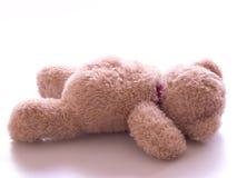 Fallen teddy bear Royalty Free Stock Photo