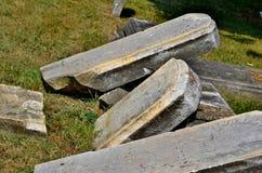 Fallen tombstones Stock Images