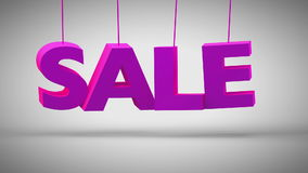 Fallen und Aufprallen purpurroten Titel Verkaufs stock video