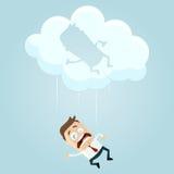 Fallen von einer Wolke vektor abbildung