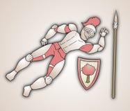 Fallen warrior. Creative design of fallen warrior Royalty Free Stock Photos
