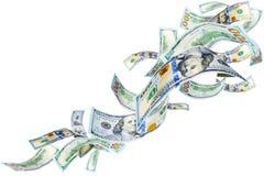Fallende amerikanische Dollar lizenzfreie abbildung