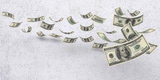 Fallende amerikanische Währung Lizenzfreie Stockbilder