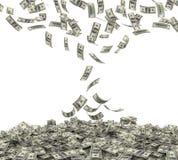 Fallende amerikanische Währung Stockfotografie