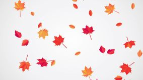 Fallende Autumn Leaves-Animation stock abbildung