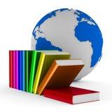 Fallende Bücher auf weißem Hintergrund Stockfotografie
